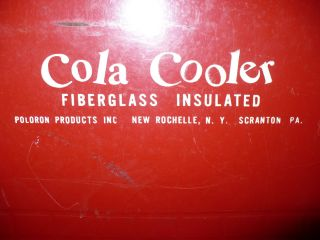 Vintage Cola Cooler Ice Box Drinks Red Complete Tray Bottle Opener