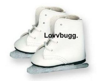 Lovvbugg Ice Skates Doll Shoes fits 18 in American Girl MULTI CLOTHES