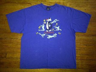 Iceberg History Hip Hop Urban Sylvester Tweety Royal Blue Tee T Shirt
