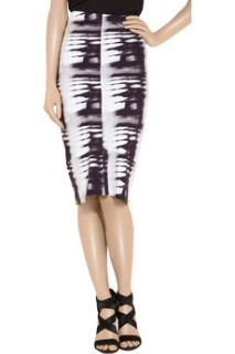 Zero+MariaCornejo Isis printed stretch twill pencil skirt   62% Off