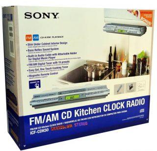 Sony ICF CDK50 Under Cabinet Kitchen CD Clock Radio