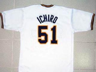Ichiro Suzuki Orix Blue Wave Jersey White New Any Size
