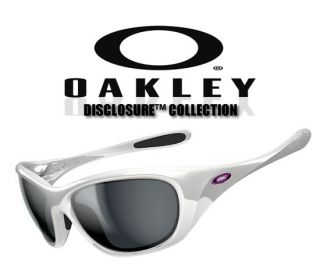 Oakley Disclosure Classic Sunglasses Womens White Frame with Grey Gray