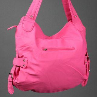 Soft Pink Women Cinderella Icon Inspired Crystal Studded Hobo Handbag