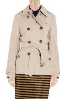Burberry Brit Short packaway sandwashed leather trench coat