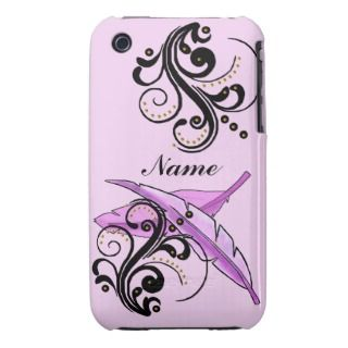 Iphone Case Mate Breast Cancer Tickled Pink Case Mate iPhone 3 Case