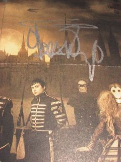 Romance MCR Signed Autograph All 5 Gerard Mikey Way Frankie Iero