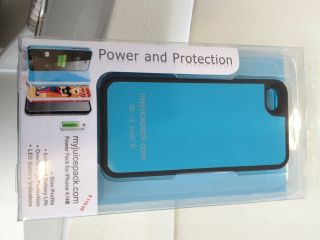 Ifans Battery Case iPhone 4S Blue Black RARE Slimmer Lighter