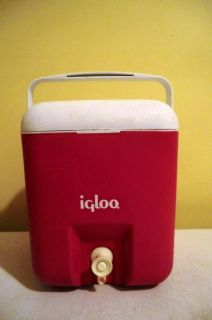 Vintage 1 Gallon Igloo Water Jug Red and White