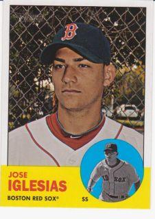 2012 Topps Heritage Jose Iglesias SP Card 447