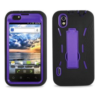 Hard Soft Case Cover Kickstand LG Marquee Ignite Majestic Phone