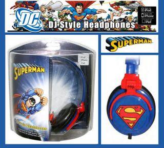 iHip Classic Superman Logo DJ Style Headphone