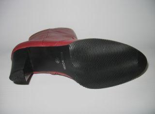Markon Ilene Womens Ankle Dark Red Short Boot 8