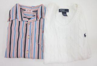 Lot 2 Ralph Lauren Polo IL Gufo Boys White Vest Shirt 5