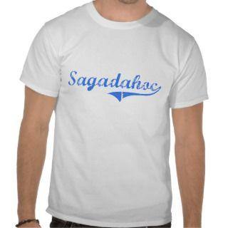 Sagadahoc Maine Classic Design T Shirt