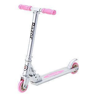 Pocket Pros Razor Scooter Pink And Green Real Moving Wheels Adjustable
