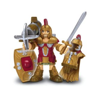 Fisher Price Imaginext BATTLE ARENA + All 8 Battle Warrior Figures