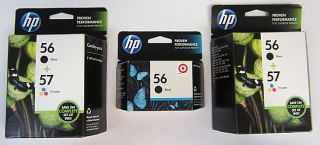 HP Combo Pack 3 56 Blacks and 2 57 Tri Color Office Jet Ink Cartridges