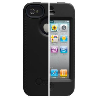 New Otterbox Impact Black Gel Skin Case for iPhone 4 4S 4 4S