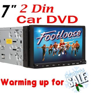 Hot Sale 7 2 DIN in Dash Touch Screen DVD Car Player Stereo RDS Radio