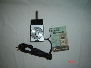Vintage Kenmore Electric Skillet Cord