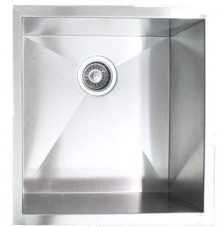 19 inch Stainless Steel Undermount Zero Radius Single Bowl Kitchen