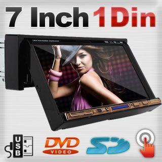 Din In Deck Car DVD Player 7 Touch Screen Auto Video CD Stereo Radio