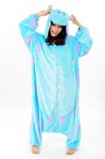 Sulley Costume Monster Inc Disney Fleece KIGURUMI Japan Cosplay Adult