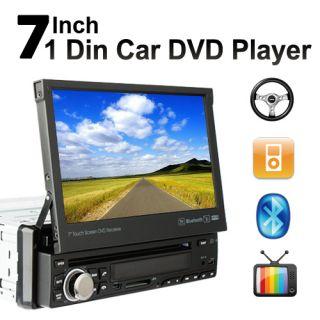 HD LCD 7in Dash Single 1 DIN Car TV DVD Player Car Headunit Deck