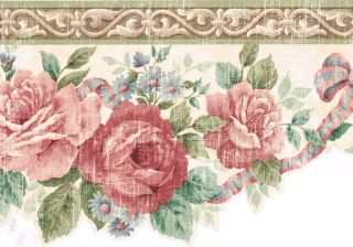 Die Cut Deep Red Roses 9  Molding Wallpaper Border Wall