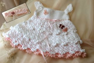 Savannah Belle Dress Crochet Pattern Sizes NB 3T mos Baby Toddler