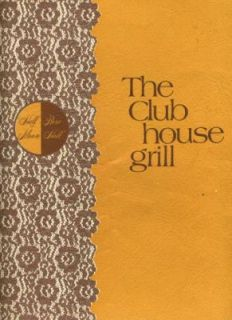 The Club House Grill Menu Montego Bay Jamaica 1970S