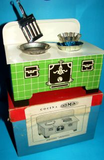 GIRL GIANT VINTAGE HOME COOKER STOVE DOLL HOUSE FRYING PAN TRAY GRILL