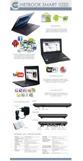 Mini Netbook Laptop 10 2 4GB Android 2 2 800MHz 512MB WiFi Camera