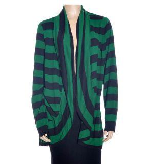Inc International Concepts Stripe Cocoon Cardigan Womens Black
