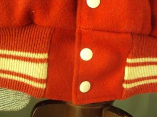 80s CINTEX Red Letter Varsity Wool Car Club Jacket Coat Indian Hill XL