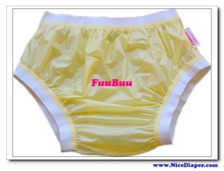 3x2207 Adult Diaper Incontinence Plastic Pants Yellow