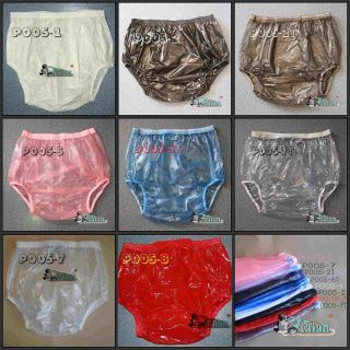 10 Adult Baby Plastic Pants PVC Incontinence P005