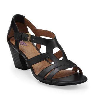 Indigo by Clarks Plush Alpaca Womens Black Leather Comfort Strappy