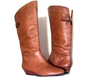 Steve Madden Cognac Leather P Indira Knee Boots New 7