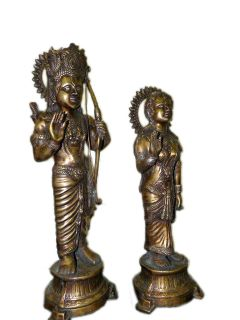 RAM and Sita India God Hindu Brass Statue 24 Inch