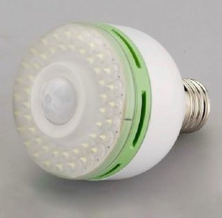E27 50 LED Human Motion Sensor Light Bulb 3W Indoor Outdoor