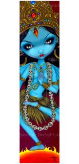 Griffith Art Big Print Signed Kali Hindu Goddess Blue India Pop