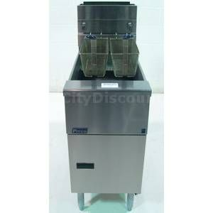 Used Pitco SG14 Stainless 40IB Natural Gas Deep Fat Food Fryer