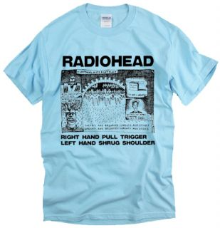 Radiohead Shrug Music Rock Indie Brit Pop Band Thom UK T Shirt