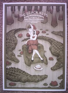 THE BLACK KEYS Indie Rock Washington DC 2010 Concert mini Poster Rich