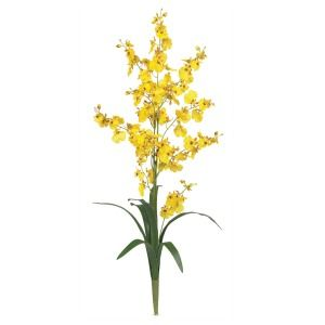 Artificial Silk Yellow Orchid Flowers by The Stem 12
