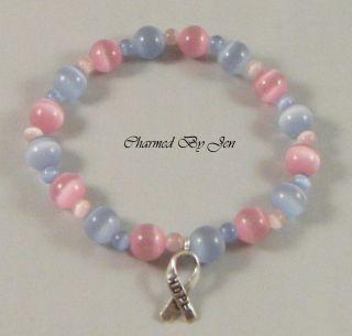 Pregnancy Infant Loss Pail Awareness Bracelet w Charm