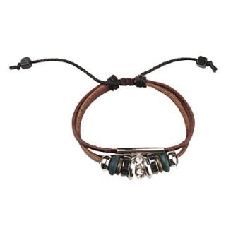 € 2.47   Flerlags Zircon Studded Leather Bracelet, Gratis Fragt