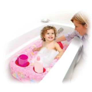 Kids Baby Girls Disney Princess Inflatable Infant Toddler Pink Bathtub